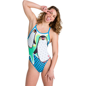 arena Crazy Penguins X Criss Cross Back Traje Baño Una Pieza Mujer, Multicolor